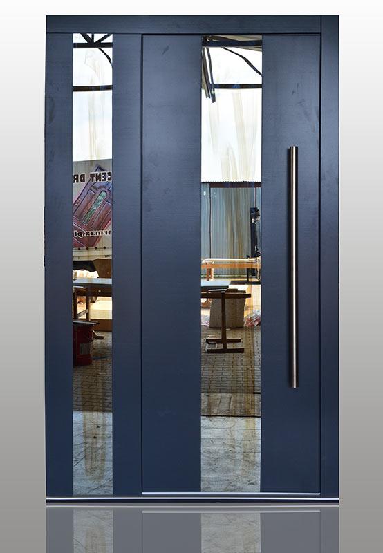 Groovy Drzwi zewnętrzne nowoczesne Top Design Glass, Drzwi drewniane OU09